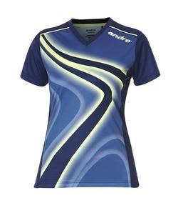 Andro Shirt Ferris Women blau/lime