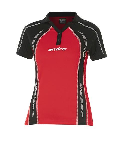 Andro Shirt Mago Women rot/schwarz