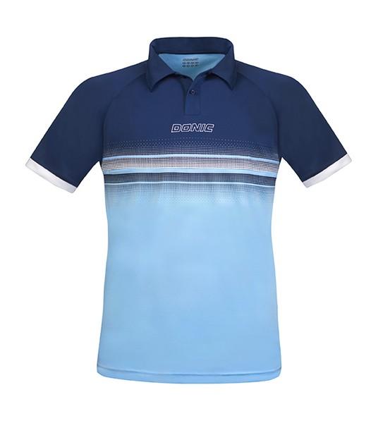 Donic Polo-Shirt Draftflex marine/hellblau